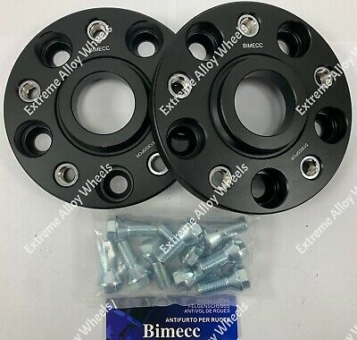 20 mm BIMECC Black Alloy Wheel Spacers 10x45mm Bolts Fits BMW e39 m12x1.5 74.1