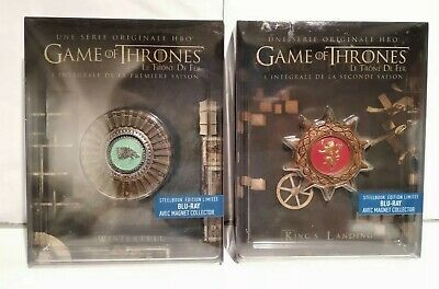 Game of Thrones saison 1&2 Edition limitée Steelbook Blu Ray Comme neuf + Magnet
