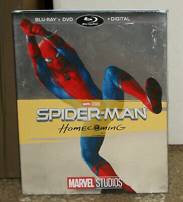 Spider-Man Homecoming Blu-ray + DVD With Silver Slipcover