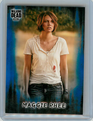 2018 Topps Walking Dead Hunters and the Hunted BLUE #4 Maggie Rhee #30/50