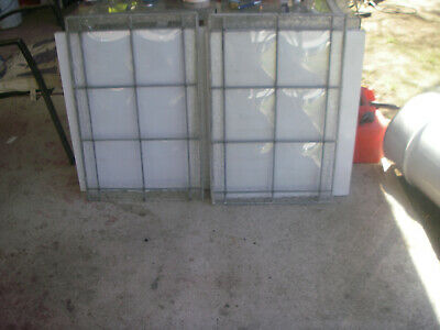 Leadlight 2 window  panels no frame ANTIQUES suits  repairer.