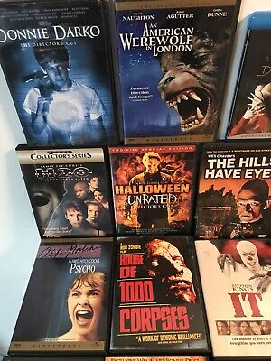 Horror Movie DVD Lot of 21 Stephen King Halloween Movies Creepshow The Omen IT