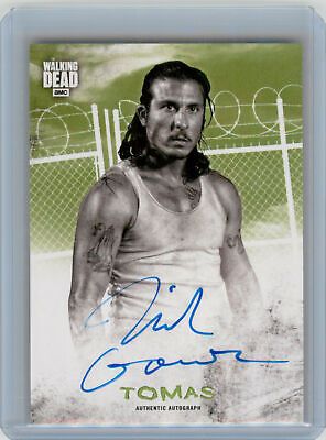 2018 Topps Walking Dead Hunters Hunted Mold AUTOGRAPH Nick Gomez as Tomas #1/25