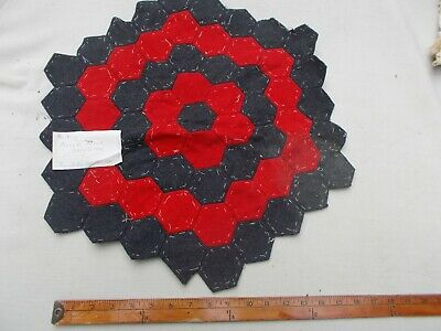 Old Vintage Antique Early Quilt Block Pillow Top Dated 1868