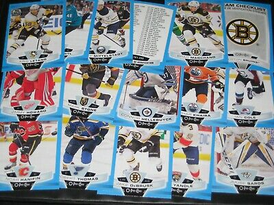 lot of 16 '19/20 O-Pee-Chee BLUE BORDER cards w/ KRIS LETANG MARCHAND HELLEBUYCK