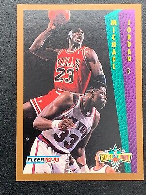 1992-93 Fleer Basketball Card #273 Michael Jordan Slam Dunk  Chicago Bulls