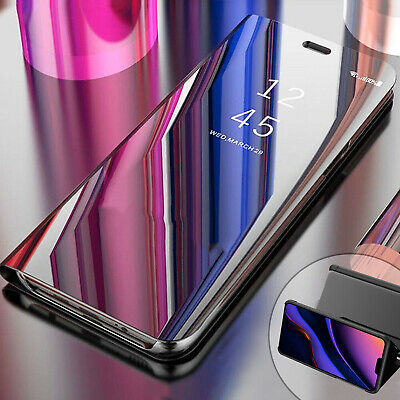 For iPhone 11 Pro Max Case Luxury Mirror Magnetic Slim Flip Leather Stand Cover