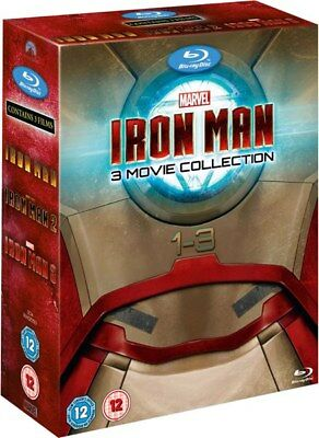Iron Man 1+2+3 Trilogy Complete Collection Blu-ray Boxset Robert Downey Jr New