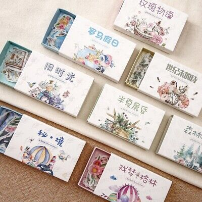 40pcs Diary Stickers Scrapbooking Supplies Kawaii Planner Stationery Card DIY
