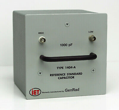 General Radio GenRad IET LABS 1404-A 1000 pF Reference Standard Capacitor 1404A