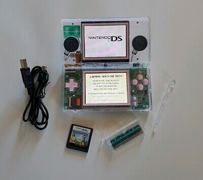 CUSTOM Transparent Refurbished GENUINE AU DS Lite Console + Drawn to Life game