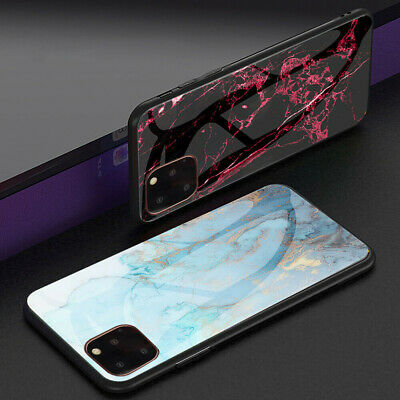 For iPhone 11 Pro Max 11 Pro Luxury Slim Shockproof Glass Hybrid Back Case Cover