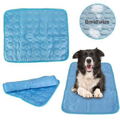 Non-Toxic Dog Cooling Mat Pet Cat Chilly Summer Bed Pad Cushion Indoor size S US