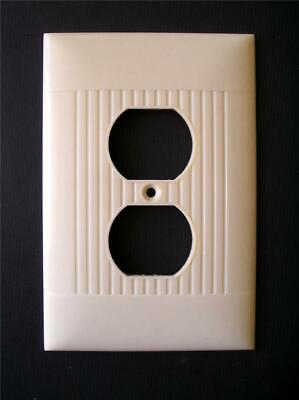 "Vintage Oversized Sierra Ribbed Duplex Wall Outlet Cover 5.25"" x 3.5"""