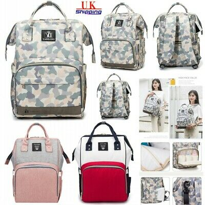 Multifunctional Baby Diaper Nappy Changing Mummy Bag Rucksack Maternity Backpack