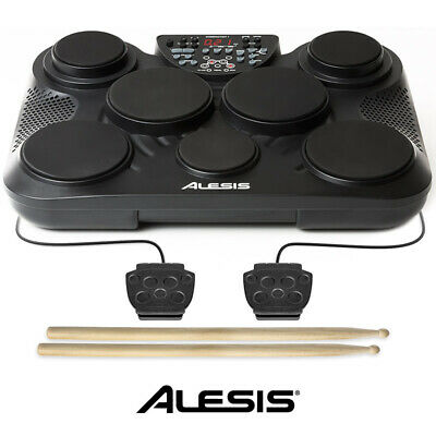 Alesis Compact 7 Tabletop Portable Electronic Drum Kit 7 Pads Plus Hi-hat and Ba