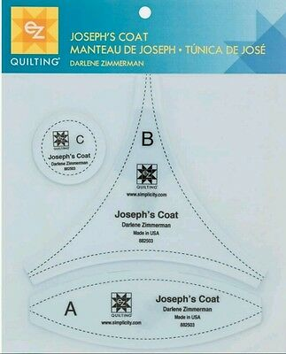 Ez Simpilcity Joseph's Coat Quilting Template - Patchwork Crafting Sewing