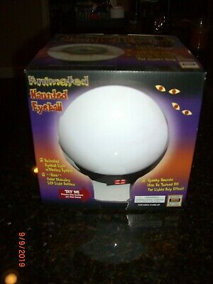 Large Animated Talking Haunted Eyeball Crystal Ball LED Color Changing Halloween