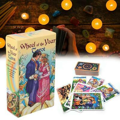 Wheel Of The Year Tarot Read Fate Tarot Card Game For Personal Use Board Game