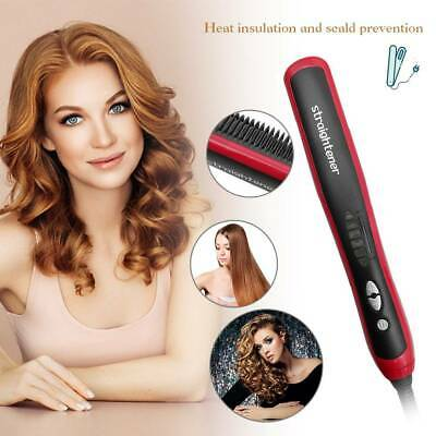 Quick Heated Beard Straightener Brush Hair Comb Curling Electric Show Cap Tool