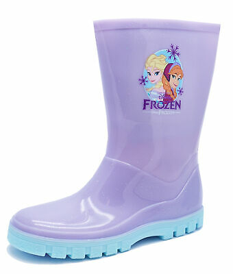 Girls Boys Blue Frozen Olaf Wellies Wellington Rain Boots Sizes UK Infant 6-12