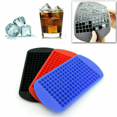 Food-Grade Silicone 160 Cavity Mini Square Ice Cube Tray Maker Mold Mould Whisky