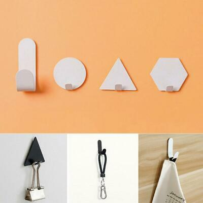 Self Adhesive Home Kitchen Wall Door Stainless Steel Holder Hook Hanger 4Pc Top