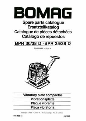 PDF Download Bomag Spare Parts Catalogue Vibratory Compactor 30/38 D 30/35 D