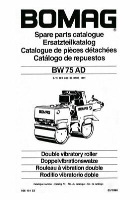 PDF Download Bomag Spare Parts Catalogue Double Vibratory Roller BW 75 AD