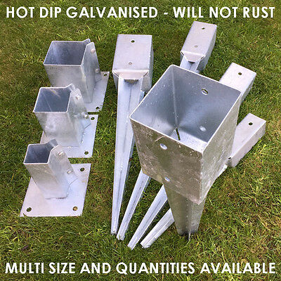 heavy duty galvanised bolt down fence post spikes