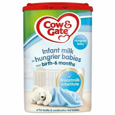 Cow & Gate Infant Milk for Hungrier Babies - From Birth - 800g
