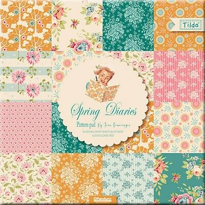 "Tilda ""  Spring Diaries"" 12"" x 12"" scrap booking paper pad"