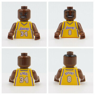 LEGO NBA TORSOS & HEADS Shaquille or Kobe Bryant for Minifigures your choice