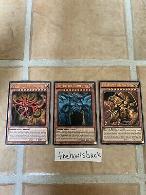 Yugioh! god Card Set Slifer Obelisk Ra LDK2 Ultra Rare Limited Edition