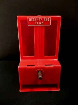 Vtg 1950s Hershey Bar Penny Bank Made by Trim Molded Products,Burlington WI