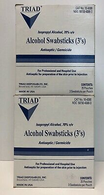 Triad  Alcohol Swabsticks 3s, 25 Ct (2 Pack) Free Shipping