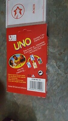 UNO CARD GAME 108 PLAYING CARDS INDOOR FAMILY  Fun Game + Genting Stanley Cards