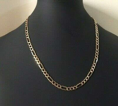 collier chaine maille figaro or 375  9 carats  60 cm poids 12,30 grs occasion