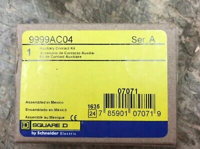 SQUARE D 9999AC04 Auxiliary Contact Kit