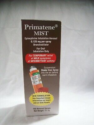 Primatene Mist, 0.125Mg Per Spray, 160 Sprays, Exp. 3/20 Better  GREAT DATE!!
