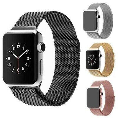 For iWatch Apple Watch Series 5 Milanese Loop Band Stainless Steel 44mm/40mm US