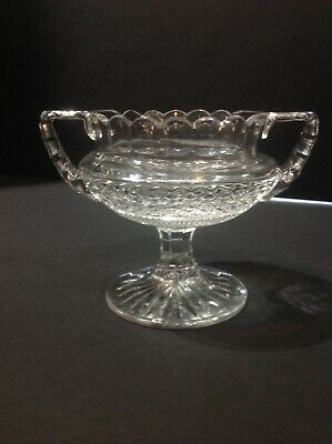 """Baccarat Edwige Pattern Footed Sugar Bowl . 4"""" High. Pre-owned. France"""