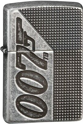 Zippo James Bond 007 Antique Silver Plate Armor Windproof Lighter 49033 *NEW*