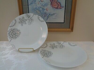 """2 NEW Corelle REMINISCE 10.25"""" DINNER PLATES *New With Tags*"""