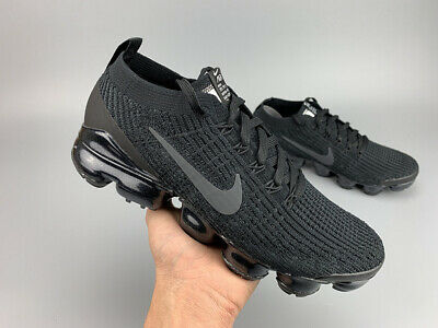 Nike Air Vapormax Flyknit 3 2019  MEN Black Running Trainers Shoes