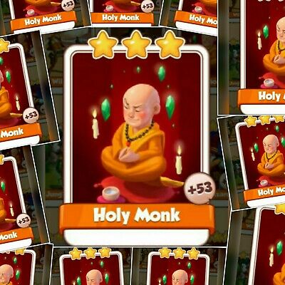 50 Holy Monk Cards Pack | Rare Card from Legends Set | Coin Master