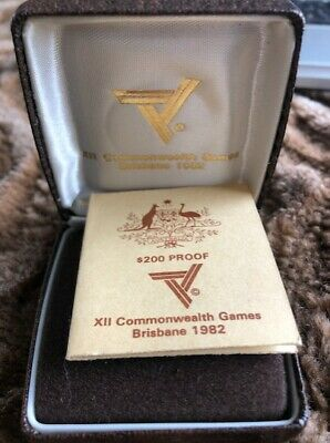 1982 Australian $200 Gold Proof Coin XII Commonwealth Games Brisbane