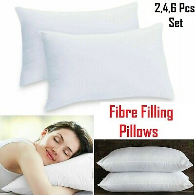 Pillows PACK OF TWO HUGE LUXURY DELUXE PILLOWS 700GSM HOLLOW FIBRE POLYCOTTON 19 x 29