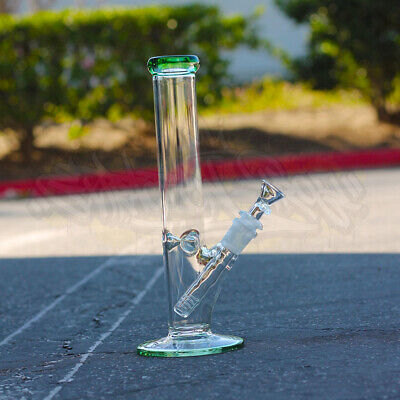 Hookah Water Pipe Heavy Glass 10 inch Tobacco Bong w/ ICE catcher Straight Base