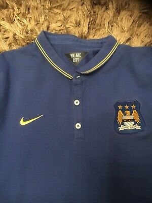 Nike Manchester City Official Polo Shirt Mens Size XXL Excellent Condition